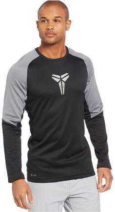 Stand tall against the competition and go for the win in the Kobe Fearless Basketball T-Shirt from Nike. Crafted from moisture-wicking fabric, this sleek tee features ventilated mesh details and a brushed interior for lasting comfort. Nike men's T-shirt Ribbed crew neck with interior taping detail Articulated raglan sleeves feature color-blocked paneling Printed sheath logo at chest Dri-FIT fabric to wick sweat away and help keep you dry and comfortable Mesh underarm insets target air flow…