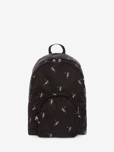 9f0c9c2e9c ALEXANDER MCQUEEN Small Dancing Skeleton Backpack.  alexandermcqueen  bags   leather  nylon
