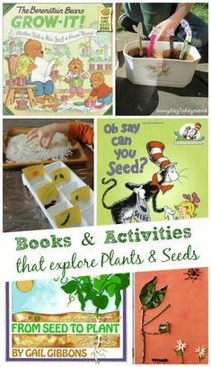 Books and activities that teach kids about seeds and plants -- awesome for gardening!