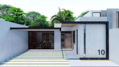 Small House Plans, Ideas Para, Bungalow, Tiny House, Facade, Garage Doors, Outdoor Decor, Youtube, Home Decor