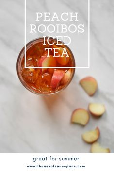 Everyone needs something cool and refreshing to drink in the summer - this is a low-sugar iced tea that is made with rooibos tea so it's also caffeine free. Perfect for getting some delicious peach flavours in your day. Rooibos Iced Tea Recipe, Iced Tea Recipes, Summer Drink Recipes, Summer Drinks, Peach Ice Tea, Creamy Mac And Cheese, Low Sugar, Caffeine, Teas