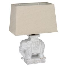 Nellie - Ceramic Elephant Table Lamp with Shade