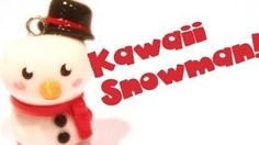 polymer clay snowman - YouTube