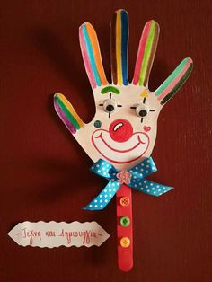 Clown Crafts, Circus Crafts, Carnival Crafts, Diy For Kids, Crafts For Kids, Arts And Crafts, Paper Crafts, Clown Party, Circus Theme