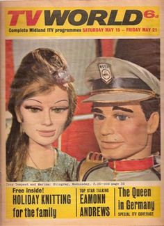 """TV World May 1965 Troy Tempest & Marina from the TV series """"Stingray"""" 1960s Tv Shows, Old Tv Shows, Childhood Images, Childhood Memories, Sci Fi Series, Tv Series, Joe 90, Thunderbirds Are Go, Vintage Television"""
