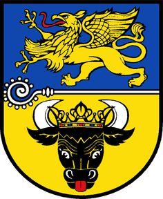 Wappen des Landkreises Bad Doberan, Mecklenburg-Vorpommern Land, Deutschland.