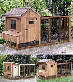 Chicken Coop with Lean-to Kennel, Two in One Combo Project Plans (Instructions) in Pet Supplies, Backyard Poultry Supplies