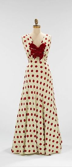 Dress - c. 1935 - by Bergdorf Goodman (American, founded 1899) - Silk - The Metropolitan Museum of Art