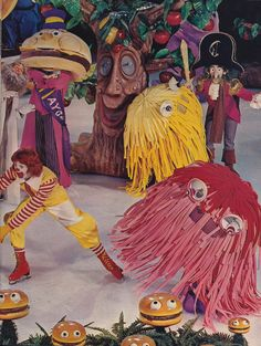 Ronald McDonald & friends on ice.