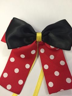 A personal favorite from my Etsy shop https://www.etsy.com/listing/223268606/minnie-mouse-inspired-hair-bow