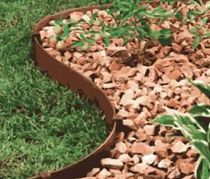 This garden edging can create beautiful curves for that perfectly manicured gravel path or can simply define your lawn and garden. Landscape Edging, Garden Edging, Lawn And Garden, Gravel Path, Easy Install, Beautiful Curves, Paths, Terrace, Recycling