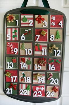 muffin tin Christmas countdown calendar!
