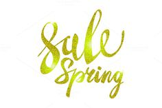 Spring Sale Gold yellow vector light by Rommeo79 on @creativemarket