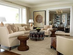 Sarah Richardson Living Room neutral
