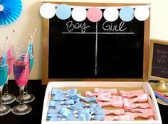 Gender reveal party ideas, games, decorations, chalkboard, food, theme, invitations, cake, fall, activities, DIY, favors, unique, on a budget, outfit, football, drinks, baseball, BBQ, rustic, twins, winter, guns or glitter, snacks, outdoor, balloons, country