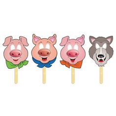Walmart: Teachers Friend Three Little Pigs Fairy Tale Masks Fairy Tale Crafts, Fairy Tale Theme, Pig Crafts, Preschool Crafts, Fairy Tales Unit, Traditional Tales, Ideias Diy, Three Little Pigs, Kindergarten Activities