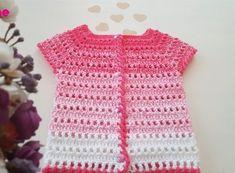 Degrade Bebek Yeleği Yapımı Short Sleeve Dresses, Dresses With Sleeves, Baby Items, Diy And Crafts, Vest, Knitting, Tops, Women, Fashion