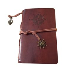 Retro Personality Notebooks Travel Journal Notepads Pirate Cover Ring Binder Diary Notebook Dark brown L