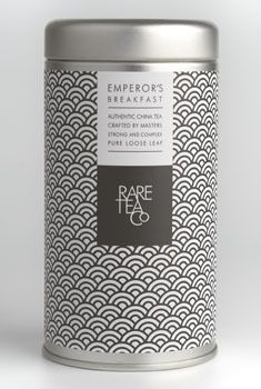 Rare Tea Co. Emperor's Breakfast tea tin, c. Spices Packaging, Food Packaging Design, Beverage Packaging, Coffee Packaging, Bottle Packaging, Pretty Packaging, Packaging Design Inspiration, Brand Packaging, Product Packaging