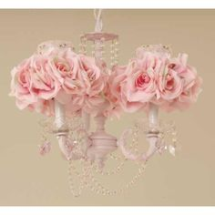 rose chandelier from poshtots the light pretty pink flowers look so pretty on the chandler