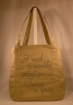 0addbe3d98 Items similar to SAMPLE SALE - 50% off - Canvas Quote Tote Bag - 1 only  available as listed - Khaki Colored Cotton Canvas on Etsy