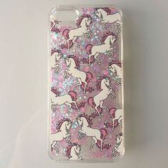 Unicorn Glitter IPhone 6/6S Awesome phone case comes with glitter and hearts that moves around in water