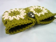 Crocheted Granny Squares Wristlet Bag/Purse by gusterscasa on Etsy