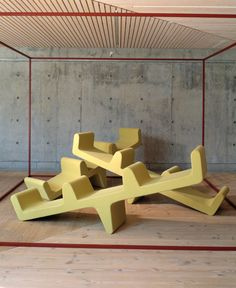 Just like Thomas Heatherwicks Spun Chair, this chair brings a sense of fun and play and childhood into a modern environment