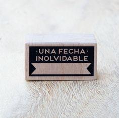 mrwonderful_sello_una_fecha_inolvidable_01  Se vende en: www.mrwonderfulshop.es #sello #stamp #DIY