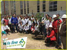 Equipo CVP #SOSCambioClimatico en jornada de siembra de árboles. Un granito de arena para mitigar el impacto del CO2.