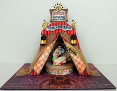 """3D Tent - Madam Zelda - Video Tutorial - To see more of my art, download free images, and for the patterns and assembly instructions for these tents checkout my Blog """"Artfully Musing"""" at http://artfullymusing.blogspot.com"""