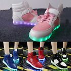 New Women LED Light Up Shoes High Top Sportswear Luminous Casual Girl's Sneakers
