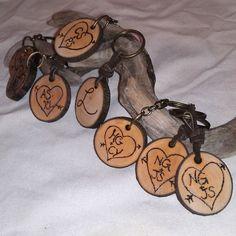 Rustic Wedding Favors - 100 Custom Keychains by RusticCharmDesign