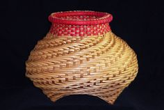 A cat-head basket by Susan Taylor, instructor at the John C. Campbell Folk School | folkschool.org