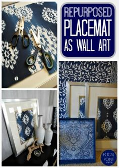 This is a great #DIY when you redecorated but just can't live without that pattern! @nyclq framed her placemats for easy and repurposed art! How do you reuse your favorite finds? #HomeGoodsHappy