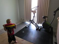 Some exercise stuff becomes a HOME GYM = awesome:)