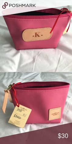 """Pink Jon Hart Makeup and/or Jewelry Bag Never been used pink Jon Hart """"K"""" bag. Perfect mini bag to carry in your purse or to put makeup in for traveling. Perfect condition. Jon Hart Bags Cosmetic Bags & Cases"""