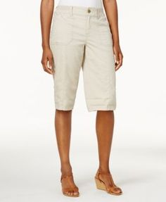 Style & Co Knit-Waistband Bermuda Shorts, Created for Macy's - Tan/Beige 2