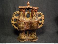 ANCIENNE POTERIE BERBÈRE VASE DOUBLE AMPHORE KABYLE IDEQQI ALGÉRIE KABYLIE ALGERIAN POTTERY - Art Africain