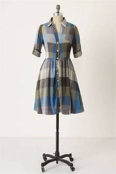 Button up shirt with gathered skirt for a shirt dress pattern hack?