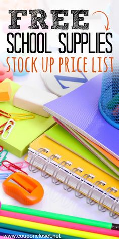 Back to school supplies list. Back to school supplies stock up price list. Know the best school supplies prices with this free printable. School Supplies Tumblr, Back To School Supplies List, Free School Supplies, School Supplies Organization, Back To School Hacks, Back 2 School, Back To School Shopping, Going Back To School, School Classroom