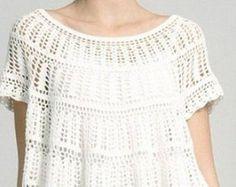 Blusa de crochet de verano hecho a orden R40 por CottonMystery