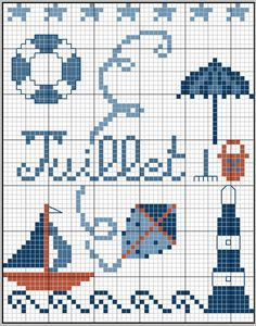 Summer is coming and that means the beach! This chart really puts us in the… Cross Stitch Sea, Free Cross Stitch Charts, Cross Stitch Freebies, Cross Stitch Kitchen, Cross Stitch Borders, Cross Stitch Designs, Cross Stitching, Cross Stitch Embroidery, Cross Stitch Patterns