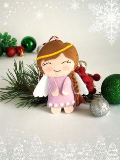 Christmas decorations Angel Christmas decor felt by MyMagicFelt