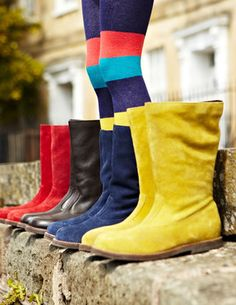 Tall Leather Boots by MIni Boden