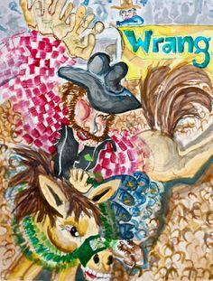 face paintings, cowboy paintings, roper paintings, bucking bronco paintings, horse paintings, face canvas prints, cowboy canvas prints, roper canvas prints, bucking bronco canvas prints, horse canvas prints