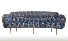 PART I: The Best of New York Design Week 2015  |   Nika Zupanc's Stardust Sofa upholstered in Neisha Crosland's Zebra Velvet...