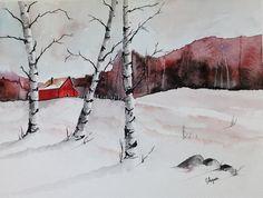 WATERCOLOR ORIGINAL Painting, Original Watercolor Painting-watercolor landscape…