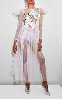 Grace Embellished Mesh Dress by Tata Naka | Moda Operandi