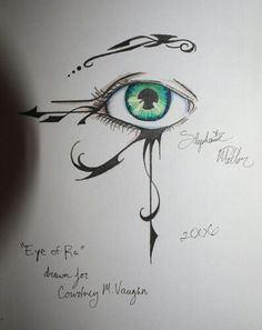 Thank you to whoever drew this beautiful piece of art. #eye_of_ra, #tattoo